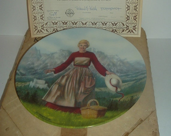 The Sound of Music First Plate with Box & COA Edwin Knowles 1986