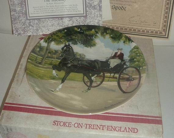 Spode The Hackney Noble Horse Plate w Box COA 1989