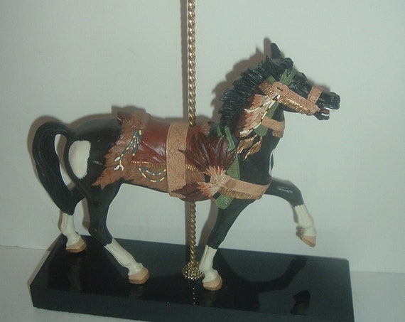 Classic Carousel Indian Pinto Horse Figurine