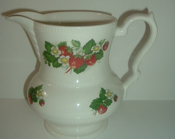 Lord Nelson England Strawberries Pattern Pitcher
