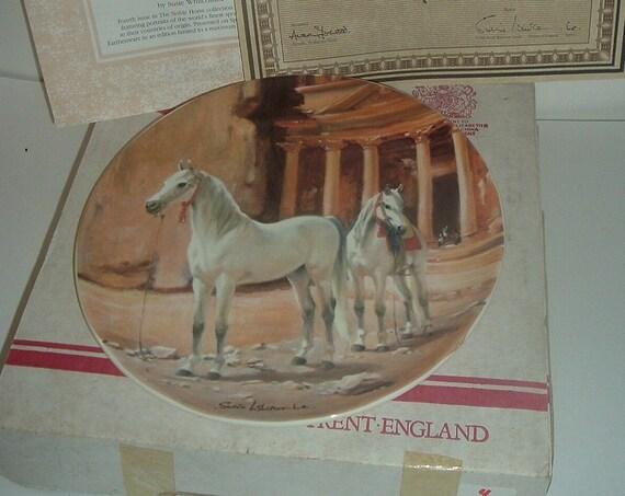 Spode Arabian Noble Horse Plate w Box COA 1989