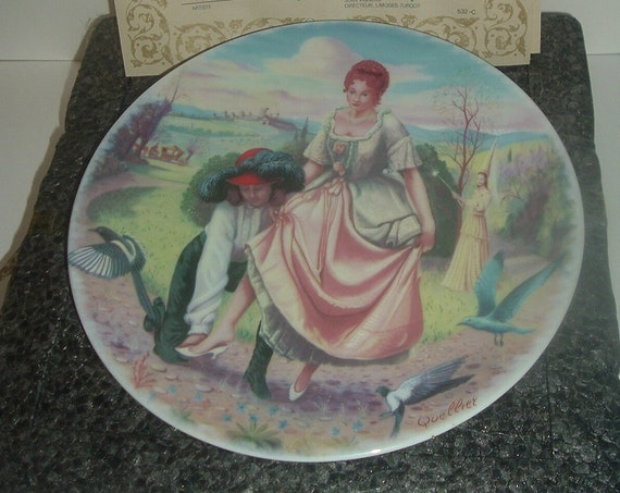 Limoges Cinderella Cendrillon  First issue Plate with box COA