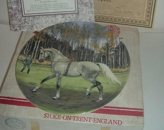 Spode Hanoverian Noble Horse Plate w Box COA 1989