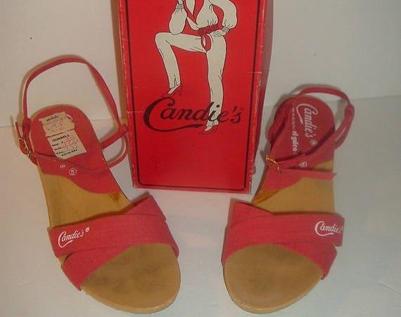 Candies Saldals Vintage  Sz 6M Sandals in original box
