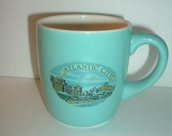 Atlantic City Beach and Hotels Cup or Mug Vintage USA