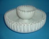 Fenton Silvercrest Chip Dip Bowl and Compote