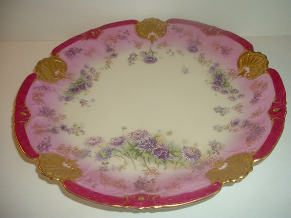 Limoges France Round Charger or Platter