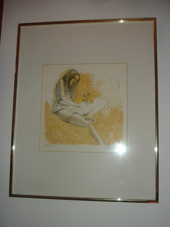 1974 Thomas Lewis Signed Numbered Etching ENDINGS Framed with COA
