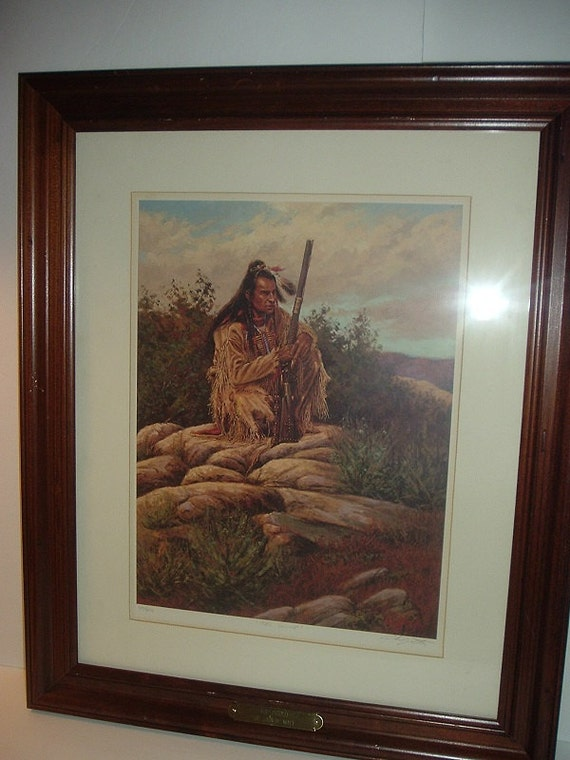 John De Mott The Scout Signed and Numbered Framed Print
