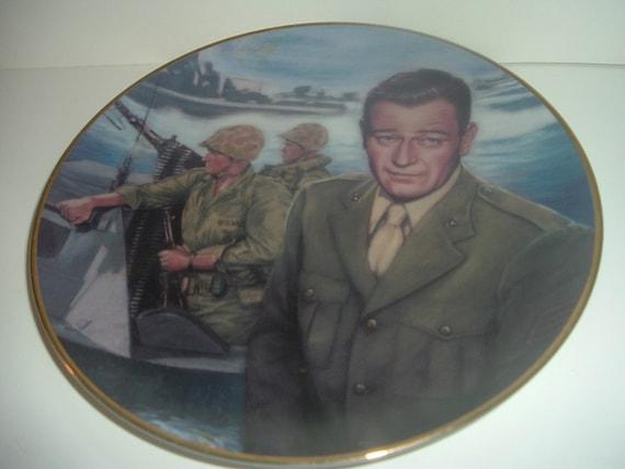 John Wayne Attack at Tarawa Sands of Iwo Jima Plate Republic Pictures 1992