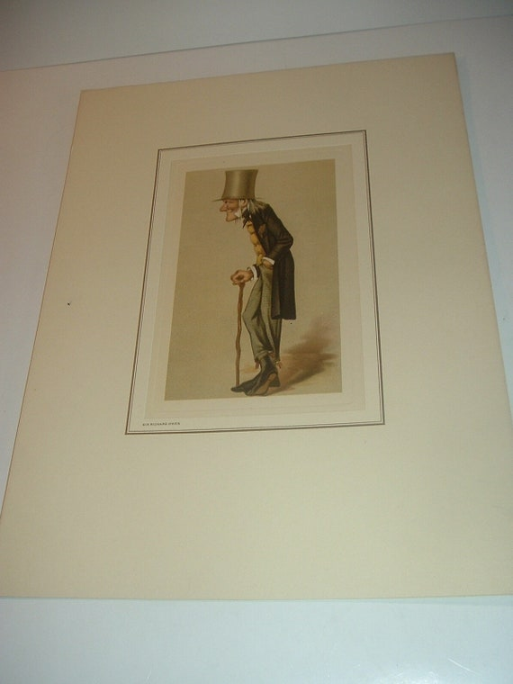 Petrolagar Sir Richard Owen Caricature Print