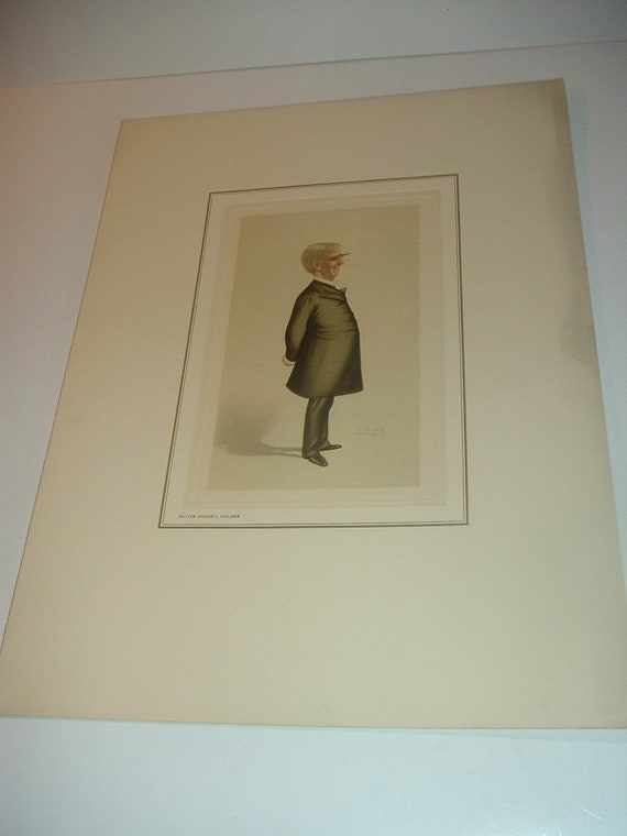 Petrolagar Oliver Wendell Holmes Caricature Print