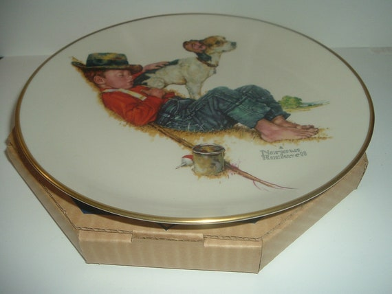 Norman Rockwell Spring Adventures Plate in box 1971