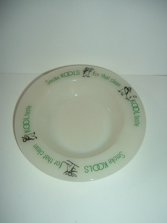 Kool Cigarettes Glass Ashtray Vintage