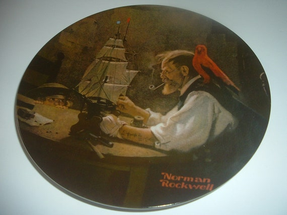 Norman Rockwell The Ship Builder Plate 1980 Vintage