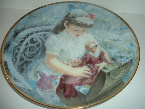 Reco My Favorite Dolls Thornton Utz Springtime of Life plate 1986