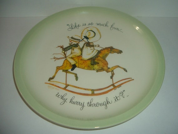 Holly  Hobbie LIfe is so much fun Plate 1972