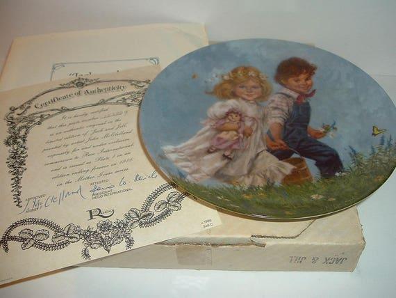 1986 Reco Jack and Jill Mother Goose Series John Mc Clelland Plate
