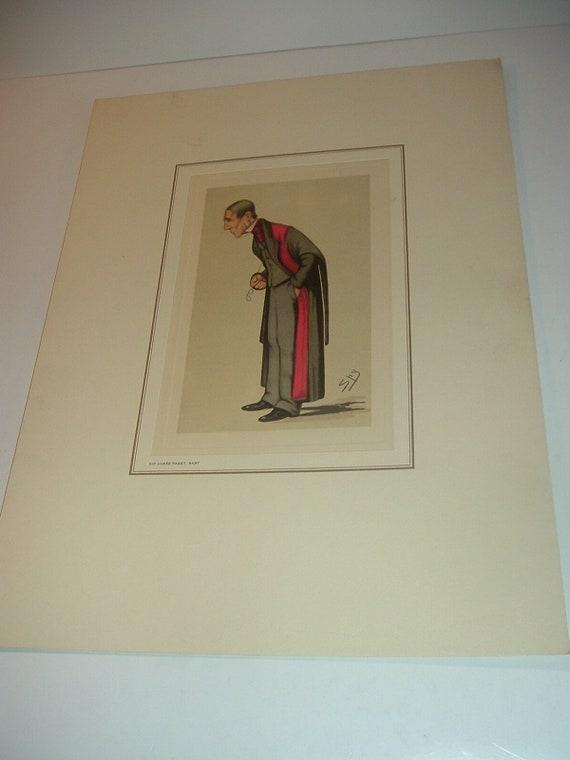 Petrolagar Sir James Paget Caricature Print
