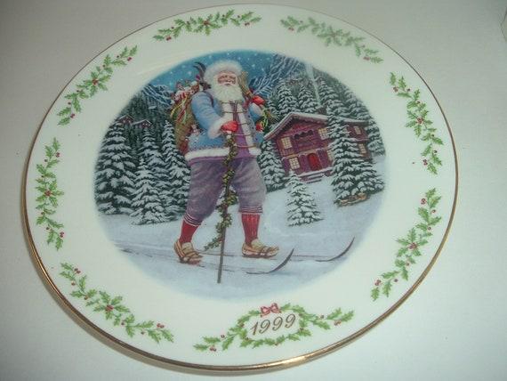 Lenox International Victorian Santa Julesvenn Plate 1999