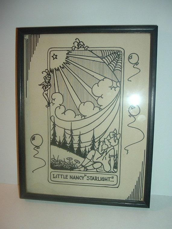1932 Little Nancy Starlight by Frank Parke Drawing
