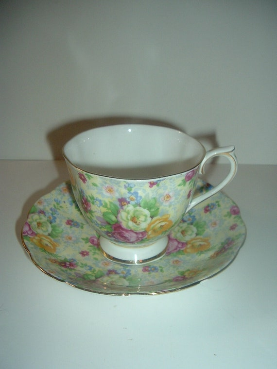 Royal Albert Rose Chintz Cup and Saucer