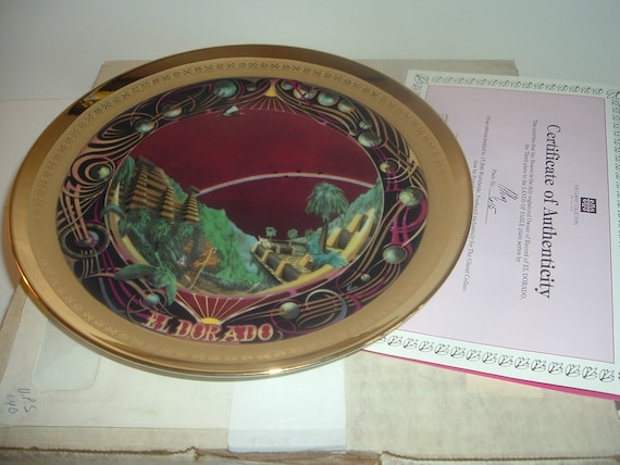 Eldorado Lands of Fable Plate Ghent Porcelaine Etienne w Box COA 1982