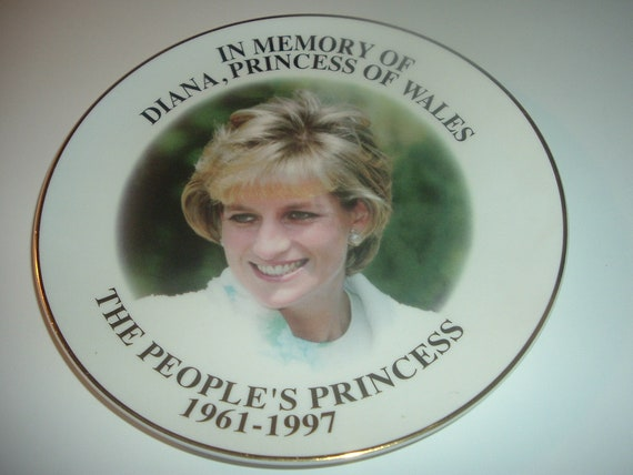 Diana People's Princess In Memory of Plate