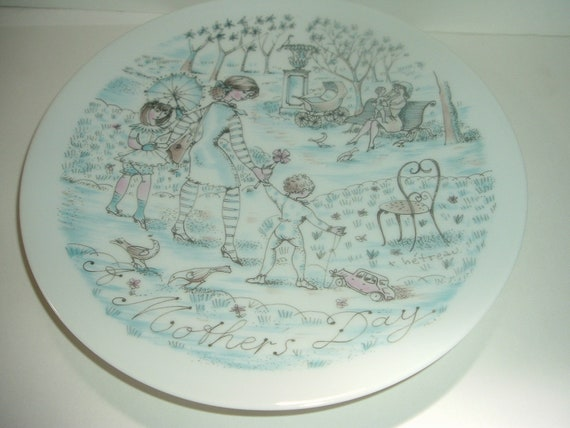Haviland Limoges Mother's Day The Park Plate 1975