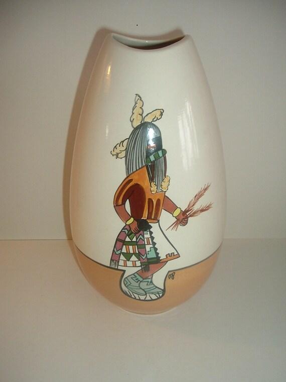 M Peters 1980 Tall Ceramic Pottery Vase Model 134