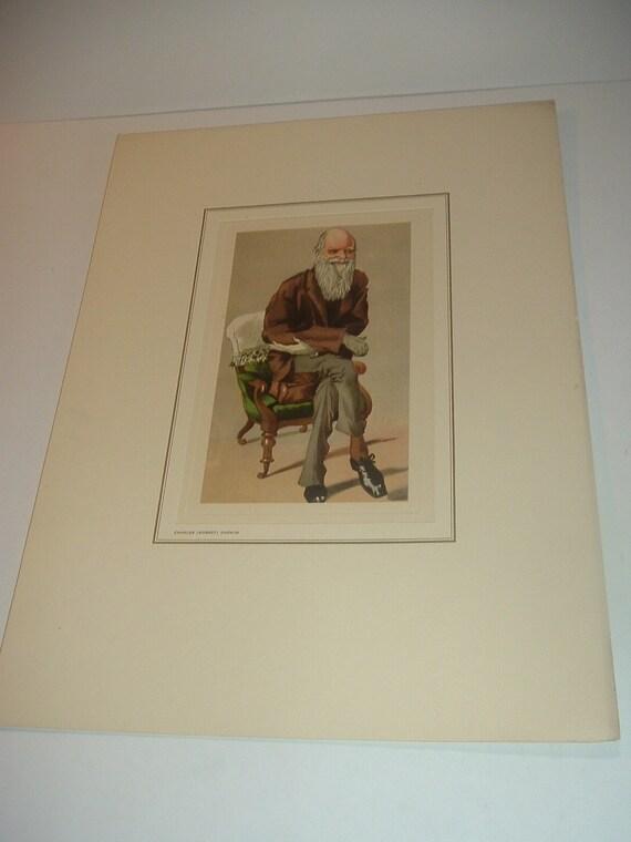 Petrolagar Charles Darwin Caricature Print