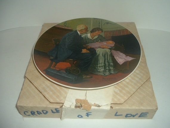 Norman Rockwell Cradle of Love plate 1st Issue