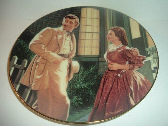 GWTW Gone With The Wind End of an Era Passions of Scarlett O'Hara Plate