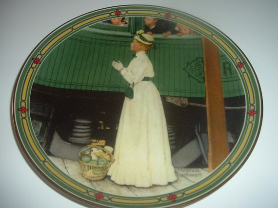 Norman Rockwell American Dream A Mothers Welcome Plate 1986 Vintage