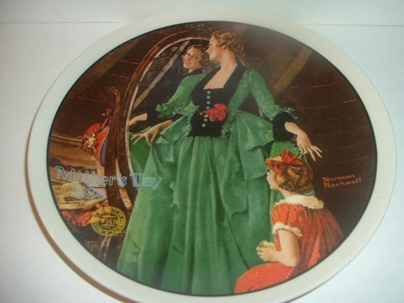 1984 Norman Rockwell Mothers Day Grandmas Courting Dress Plate