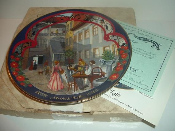 Artist's Life Waltzes Johann Strauss Plate w/ Box and COA