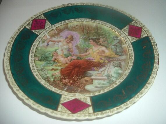 Austria Beehive mark Portrait Plate