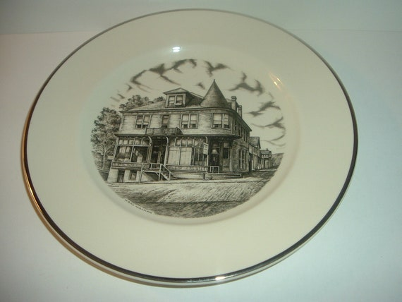 1987 Pottery Festival Plate The Tribune Building East Liverpool Ohio