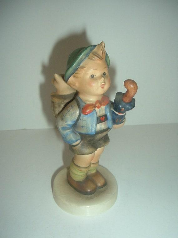 Hummel HUM 198 Home From Market Boy Figurine TMK 4