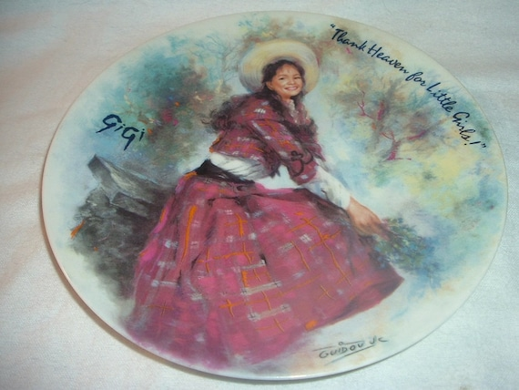 Limoges Plate Gigi Thank Heaven Little Girls First Issue