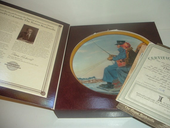 Norman Rockwell The Journey Home Rockwell Colonials Plate Box COA 1987 Edwin Knowles