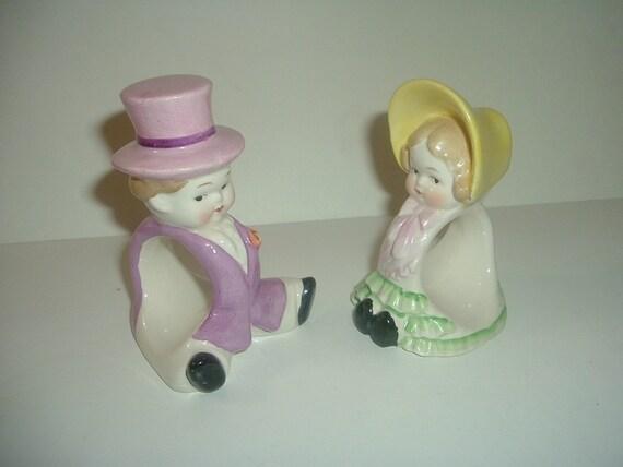 Erphila Germany Lady and Man Napkin Rings