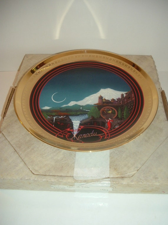 Xanadu Lands of Fable Plate 1st Issue Ghent Porcelaine Etienne w Box 1982