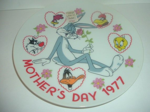 1977 Bugs Bunny Looney Toons Tunes Mothers Day Plate Dave Grossman