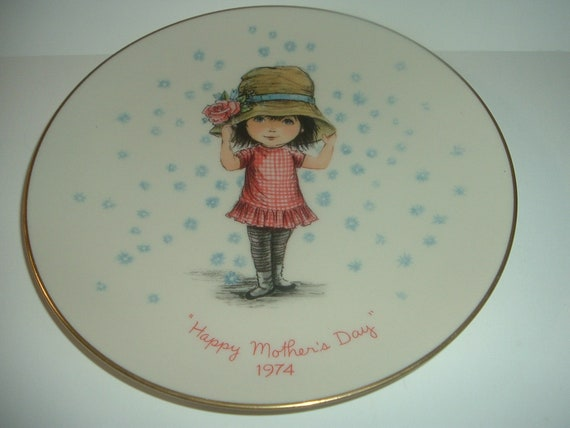 Moppets Mothers Day Plate 1974 by Gorham China