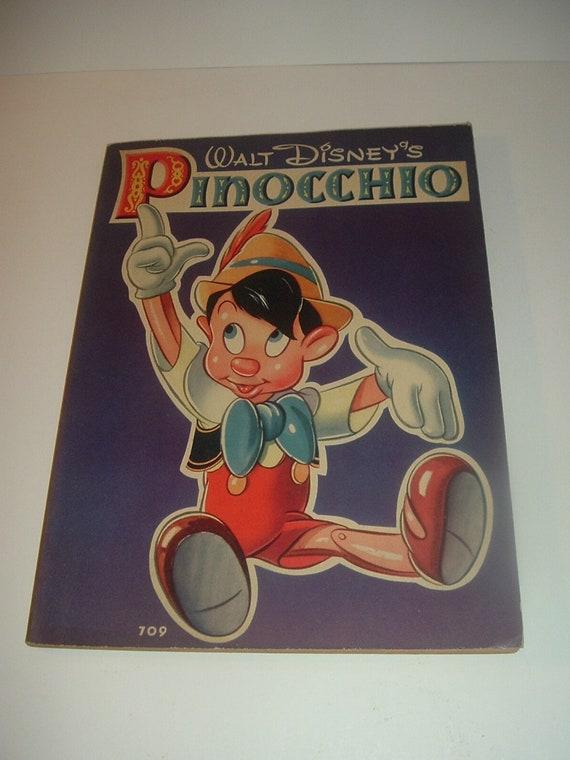 1939 Whitman Walt Disneys Pinocchio Book