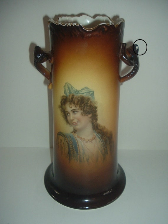 Warwick IOGA Lady Portrait Antique Vase