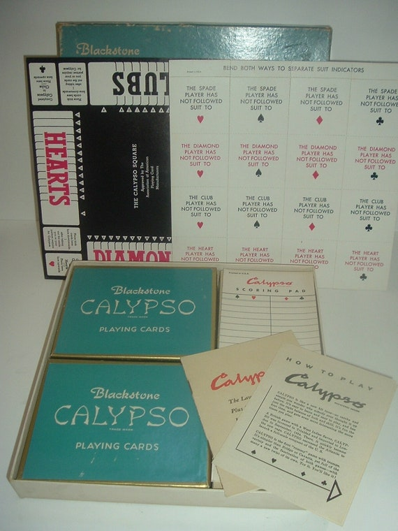 1955 Arrco Playing Card Company Calypso Game