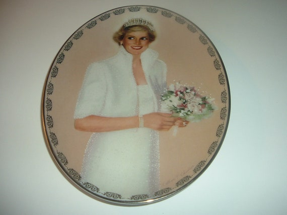 Princess Diana Oval Plate Queen of Our Hearts Collection