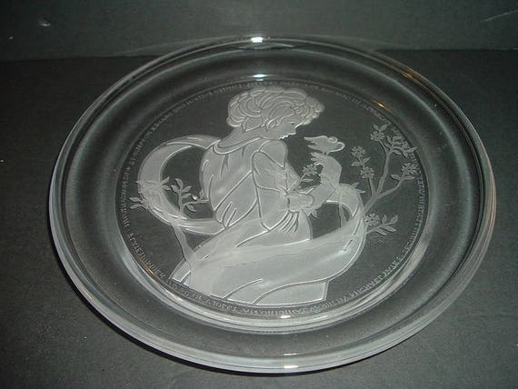 Morgantown Crystal Glass Plate Violet Country Ladies Michael Yates